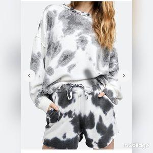 NWOT Free People Kelly Washed Sweatshirt Set sz L